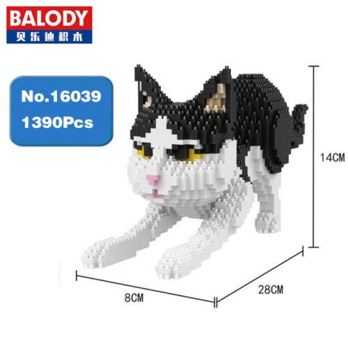 Balody Persian Cat Black Kitten Animal Diamond DIY Mini Building Nano Blocks Toy