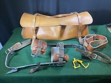Klein Pole Tree Climbing Set With Leather Bag Safety Belt Excellent Condition