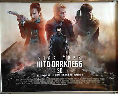 Cinema Poster Star Trek Into Darkness 2013 Main Quad Chris Pine Karl Urban Ebay