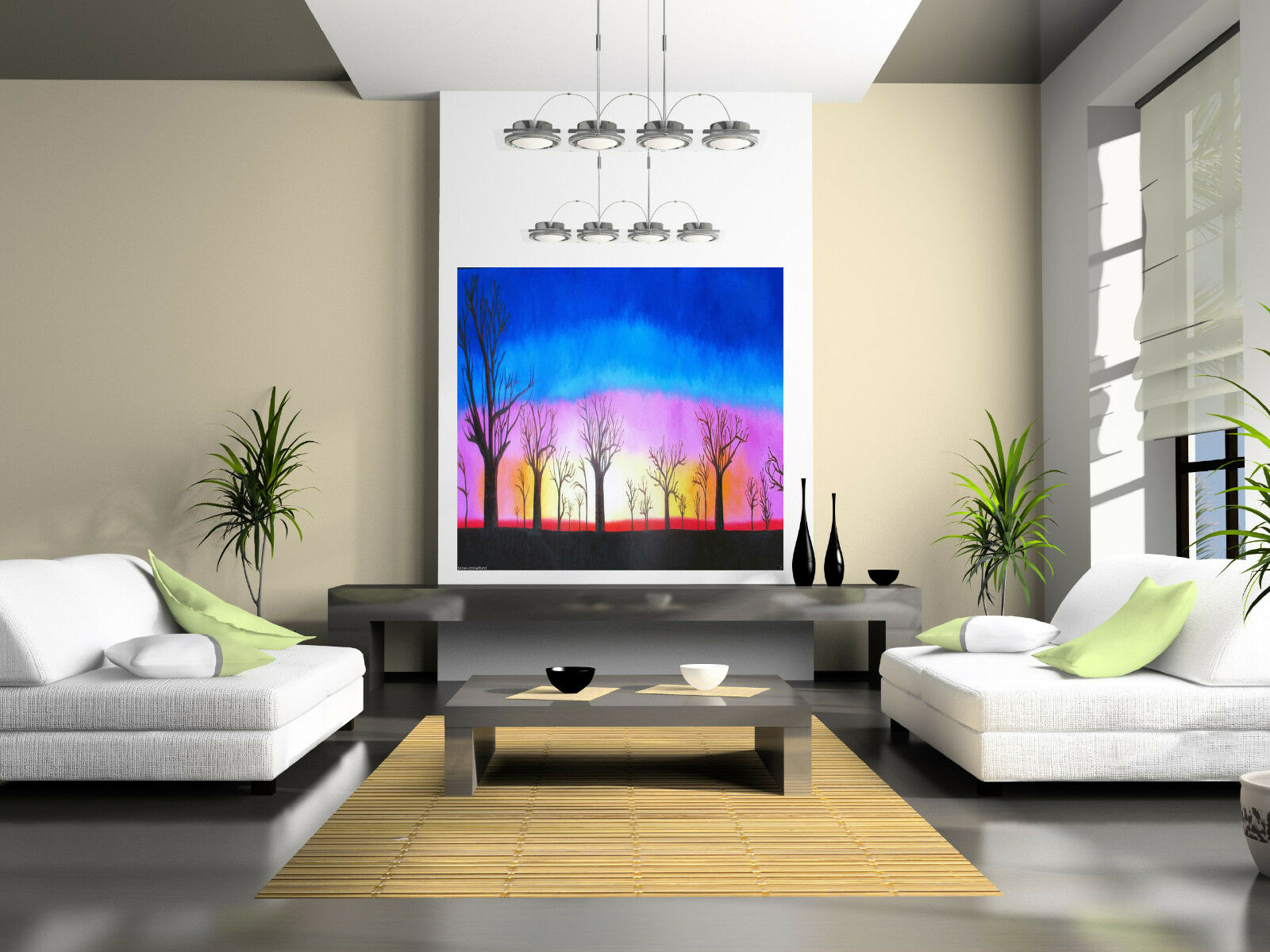 100cm Art Painting Boab Tree forest Sunset  Australia Landscape COA original