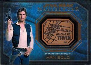 STAR-WARS-Masterwork-2016-Medallion-Card-of-Han-Solo-Battle-of-Yavin