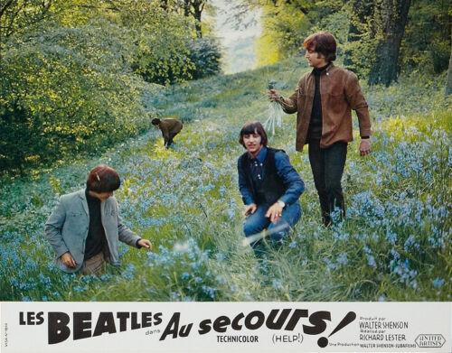 "The Beatles Help French Lobby Card Replica 14 x 11/"" Photo Print"