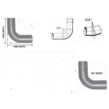 POWER PRODUCTS 4 Od/Od Steel 90 De Short Radius Elbow SRE490-8