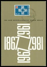 NL MK 1967 CROCE ROSSA RED CROSS maximum carta carte MAXIMUM CARD MC cm bb62