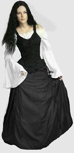 moyen-age-gothique-Servante-Jupe-a-lacets-longue-36-38-40-42-44-46-48-50-NOUVEAU