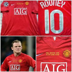 0c673112b02 Image is loading RARE-ROONEY-MANCHESTER-UNITED-SHIRT-JERSEY-FINAL-CHAMPIONS-
