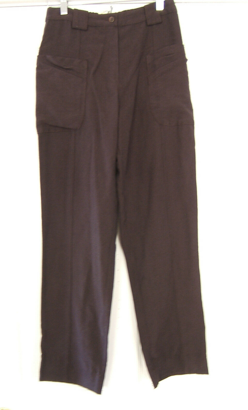 NWT Cannisse French Provence Designer Pants Brown Relaxed Trousers 6 8  218