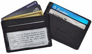 Mens-Thinnest-Slim-Leather-Wallet-Money-Credit-Card-ID-Front-Pocket-Holder-Black