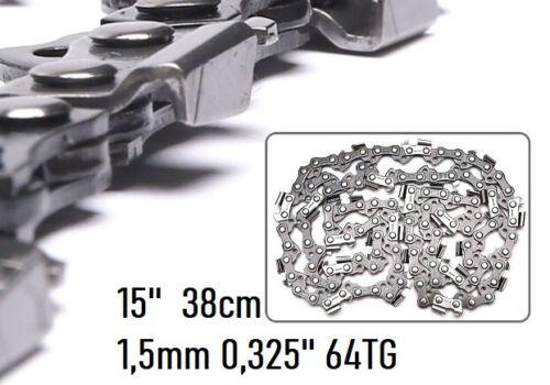 """64TG passend für Husqvarna Kette Ersatzkette Sägekette 15/"""" 38cm 0,325 1,5mm"""