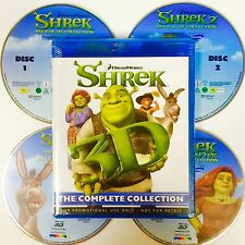 SHREK 3D Blu-ray, COMPLETE COLLECTION,All 4 Shrek Movies In 4 Disc,Also Plays 2D