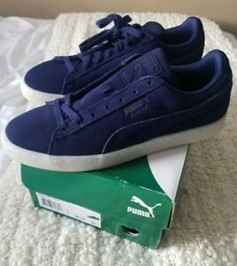 watch 71470 b589a Details about PUMA SUEDE CLASSIC COLORED PEACOAT-WHITE 360850-01 SIZE 8M