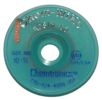 Chemtronics 10-25L 25/' Solder Wic Wick Braid For Solder Removal from Circuits
