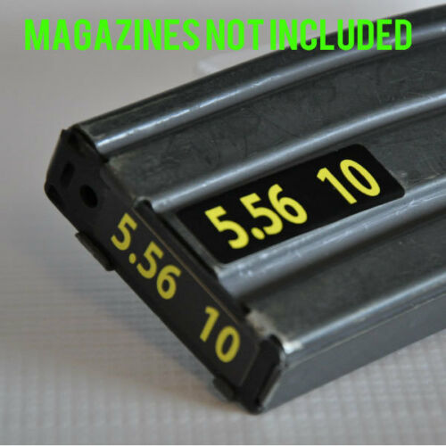 STICKERS for USGI METAL MAGAZINES 5.56 YELLOW NUMBERED 6-10