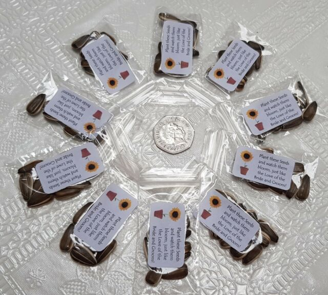 10 Wedding Sunflower Seed Favours For Sale Online Ebay