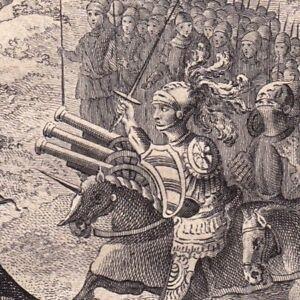 Gravure-XVIIIe-Bataille-de-Montlhery-1465-Louis-XI-Charles-Le-Temeraire