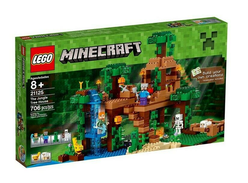 LEGO Minecraft Set 21125 The Jungle Tree House - Building Kit - New & Sealed