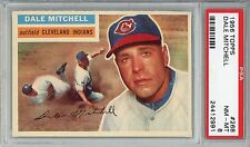 1956 Topps #268 Dale Mitchell PSA 8 NM-MT Cleveland Indians - Key Card!