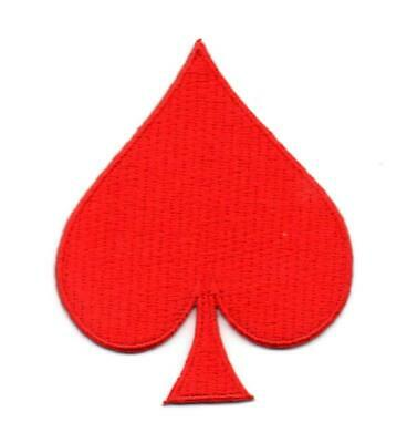 spade card red  Red Spade Poker Card P6 Embroidered Iron on Patch High Quality Hat Jacket  | eBay