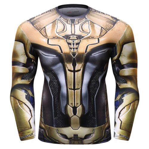 a lunghe compressione Top sport a uomo superiore lo da per con supereroe Camicia strato da maniche zdpw5dq