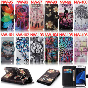 For-Samsung-J3-J510-S5-S6-S7-A510-Bling-Butterfly-Wallet-Leather-Flip-Case-Cover