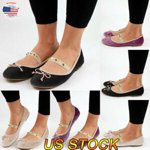 US-Women-Ladies-Casual-Sandals-Slip-On-Pumps-Shoes-Flat-Heel-Shoes-Size-6-9-NEW