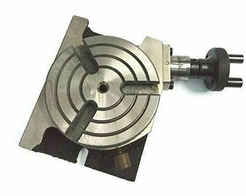 """3/"""" Rotary Table 80mm Horizontal Vertical Low Profile With 3 Slots For Milling"""