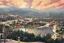 Thomas-Kinkade-Sunset-on-Snowflake-Lake-E-P-18x27-Canvas-in-Brandy-Frame thumbnail 2