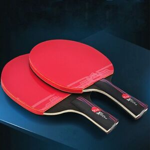Rubber-With-Bag-Table-Tennis-Racket-Bat-Carbon-Fiber-Ping-Pong-Paddle