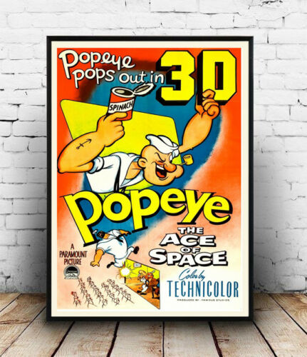 Wall art. Popeye 3D  Vintage advertising poster
