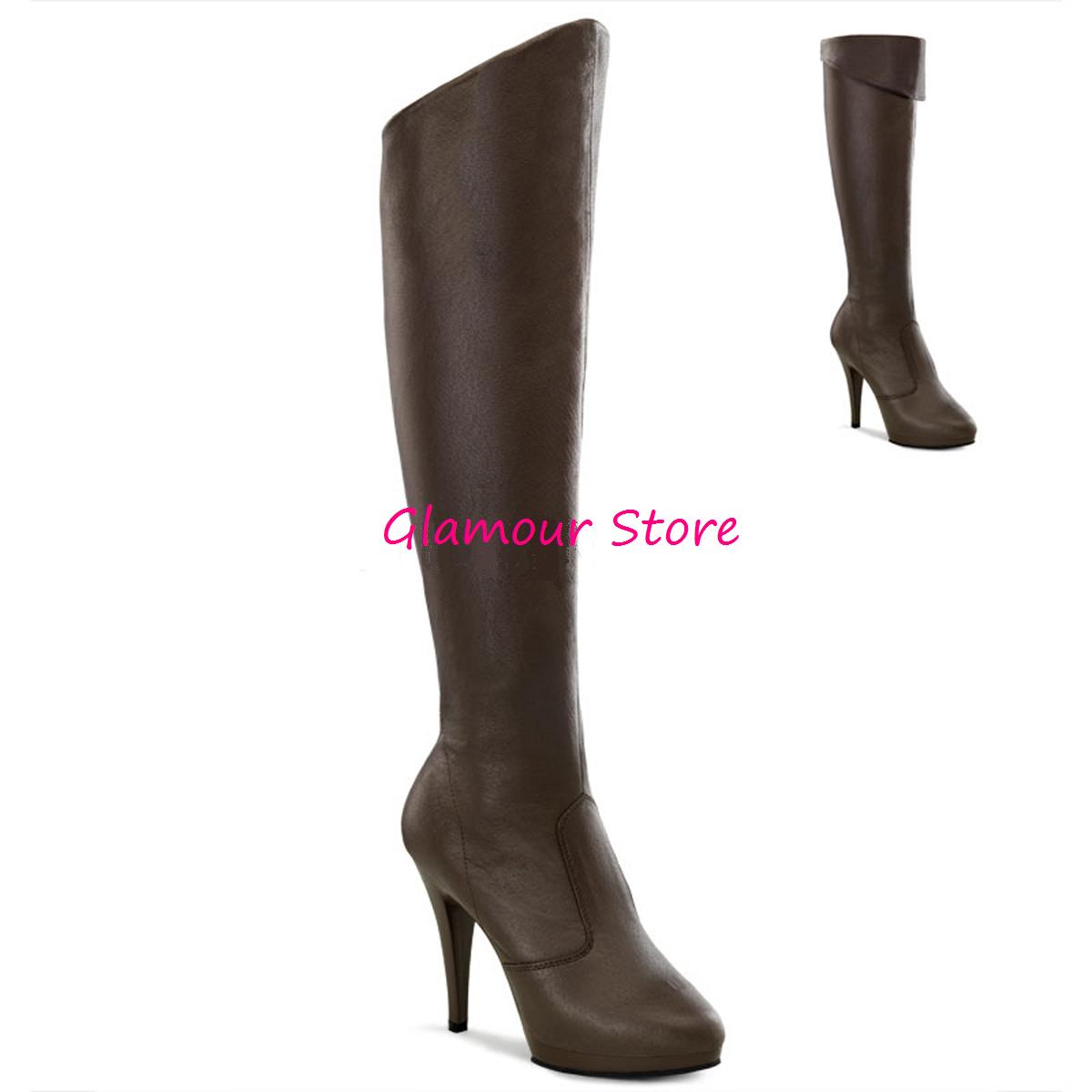 Sexy botas PELLE tacco tacco tacco 11,5 dal 36 al 41 marrón pleteau zip zapatos GLAMOUR  últimos estilos