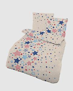 baby bettw sche 100x135 cm sterne beige blau 17834 biber b ware ebay. Black Bedroom Furniture Sets. Home Design Ideas