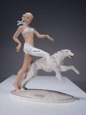 +# A001210 Goebel Archiv Muster Schaubach Dame Blondine mit Windhund Schau12