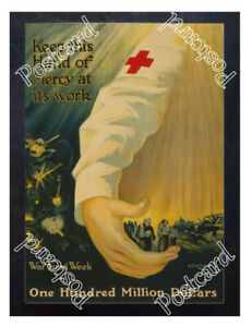 Historic-WWI-Recrutiment-Poster-Red-Cross-hand-of-mercy-Postcard