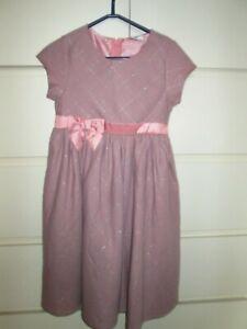 Festliches Mädchen Kleid von Topolino Gr. 122 Altrosa/Grau ...