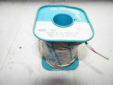 Nos Belden Wire 8521 100 Whitered Hook Up Wire 16 Awg 100 Foot Length No Box