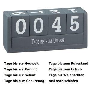 Holz-Countdown-Wuerfel-grau-8-Texte-Deko-Holzwuerfel-Wuerfelkalender-Dauerkalender