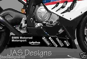 BMW SRR HP Motorrad Belly Pan Sponsor Decals WSB Superbike - Bmw motorrad motorsport decals