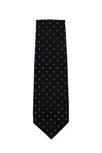 Finamore Napoli Black Floral Silk Tie - x - (1321)