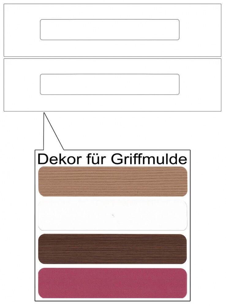 IKEA Märsta Schubladenfronten 2er 40x10cm weiß Griffmulde Griffmulde Griffmulde 302.854.26 4aa9ea