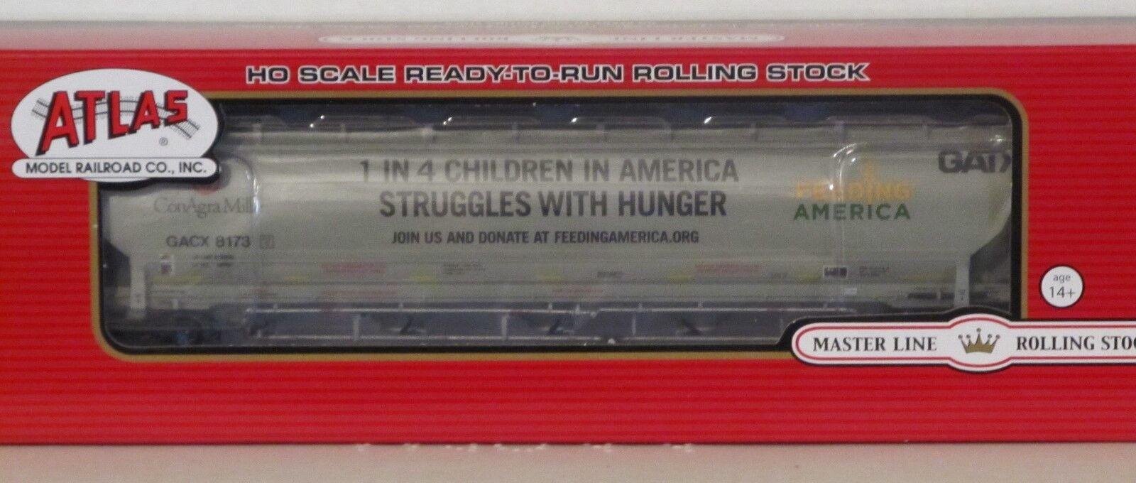 Atlas HO Scale 20004274 Conagra Feeding America Trinity Trinity Trinity Hopper Car 8175 d29a45