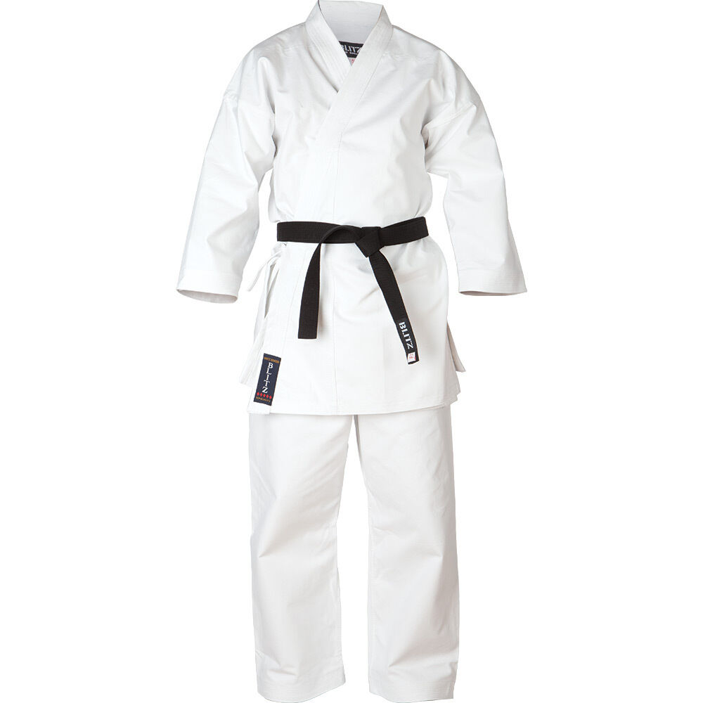 Blitz  Adult White Diamond Karate Suit   Gi   Uniform  support wholesale retail