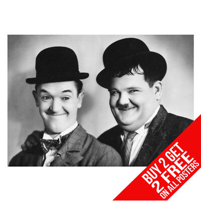 BUY 2 GET ANY 2 FREE LAUREL AND HARDY POSTER ART PRINT A4 A3