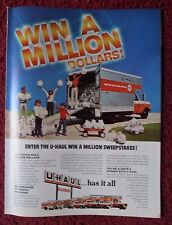 1981 Print Ad Uhaul U-Haul Moving Rental Center ~ Win a Million Sweepstakes