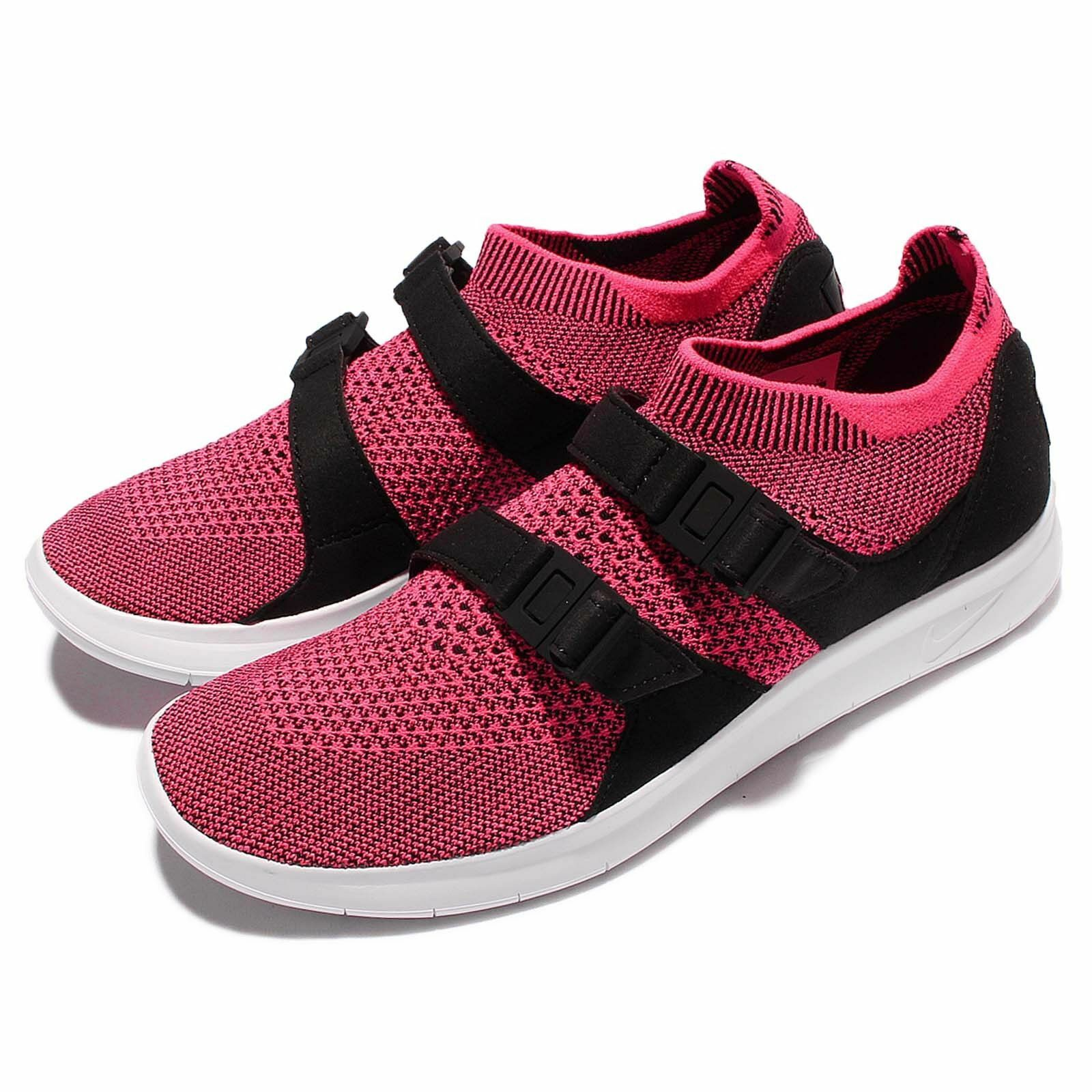 Nike Air Sock Racer Flyknit Womens Running shoes 896447-004 Black Pink Size 8.5