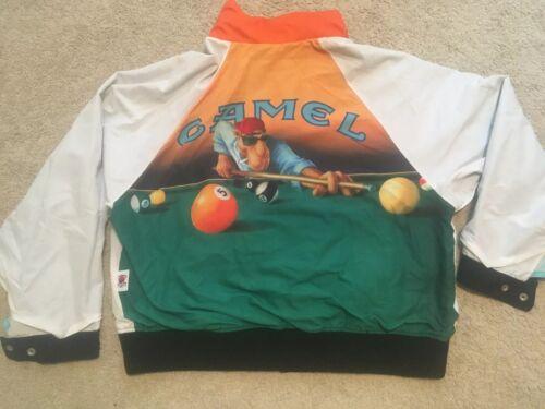 Vintage 1992 Joe Camel Pool Shooter Reversible Jac