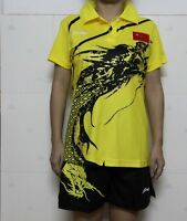 Lining Child Boy Girl Badminton/table Tennis With The Chinese Shirt +shorts