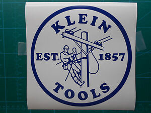 Image Is Loading Klein Tools Logo Decal Sticker Electrician Journeyman 2