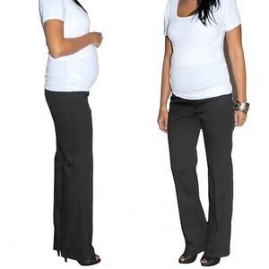 Image Is Loading Maternity Pregnancy Work Formal Trousers Office Pants Size