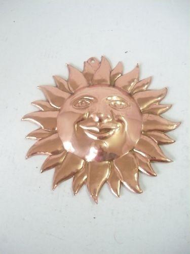 Sole Sun Decorativo in RAME da parete arredo casa 5 CM