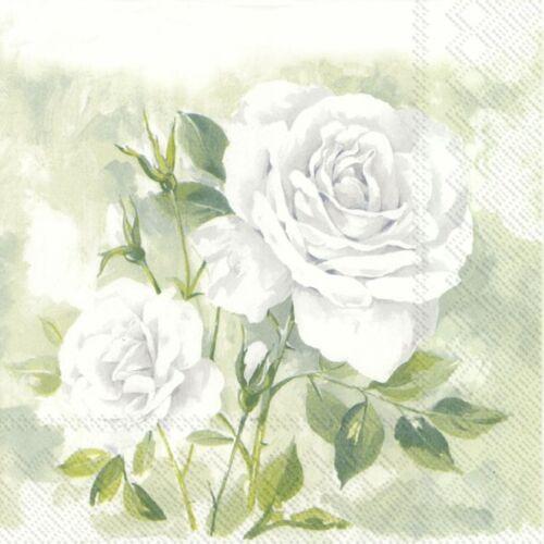 Weddings Boutique Rose White Parties 2 Paper Napkins for Decoupage